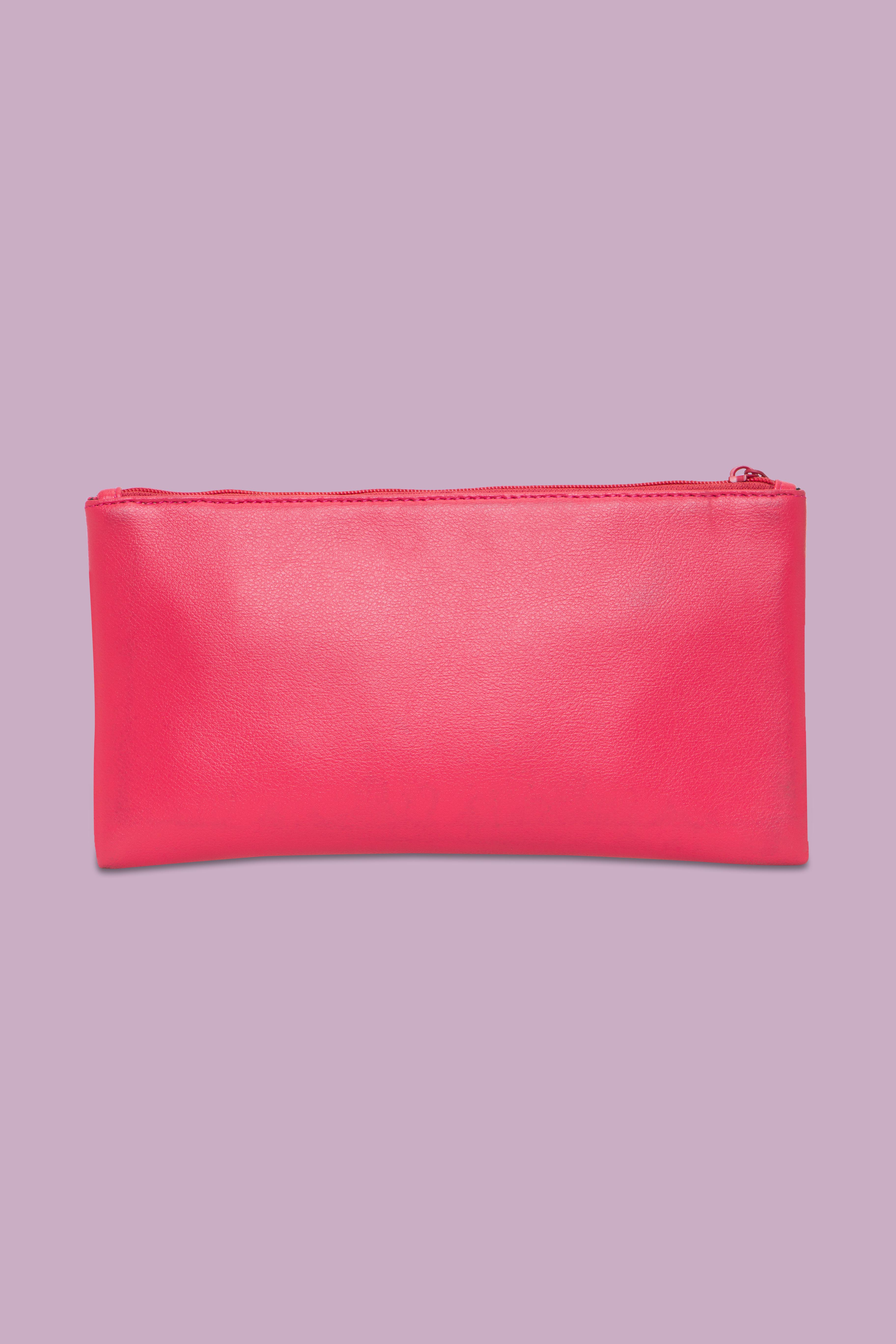 Folle Embroidery Pink Clutch
