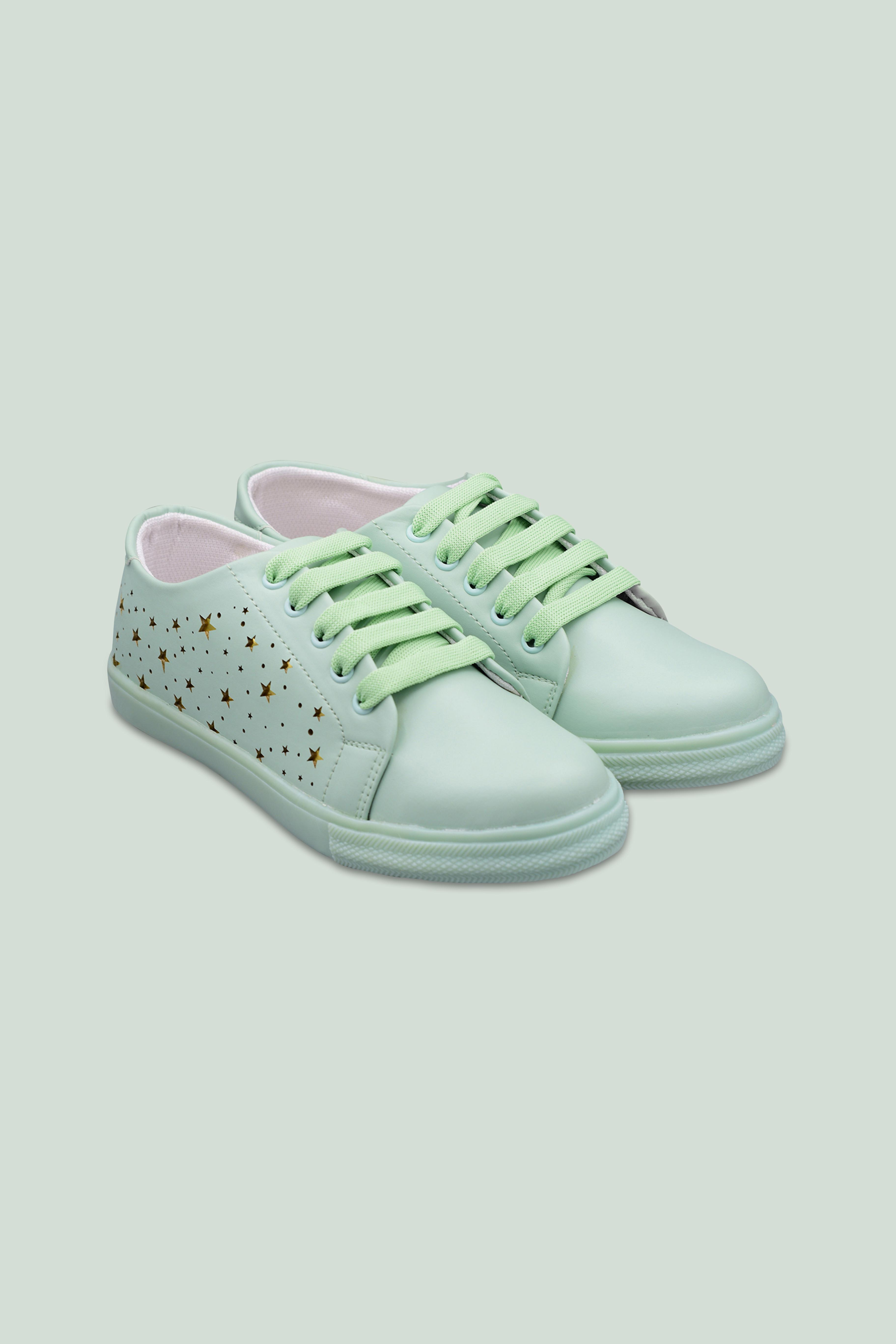Folle Green Lazer Star Casual Sneakers