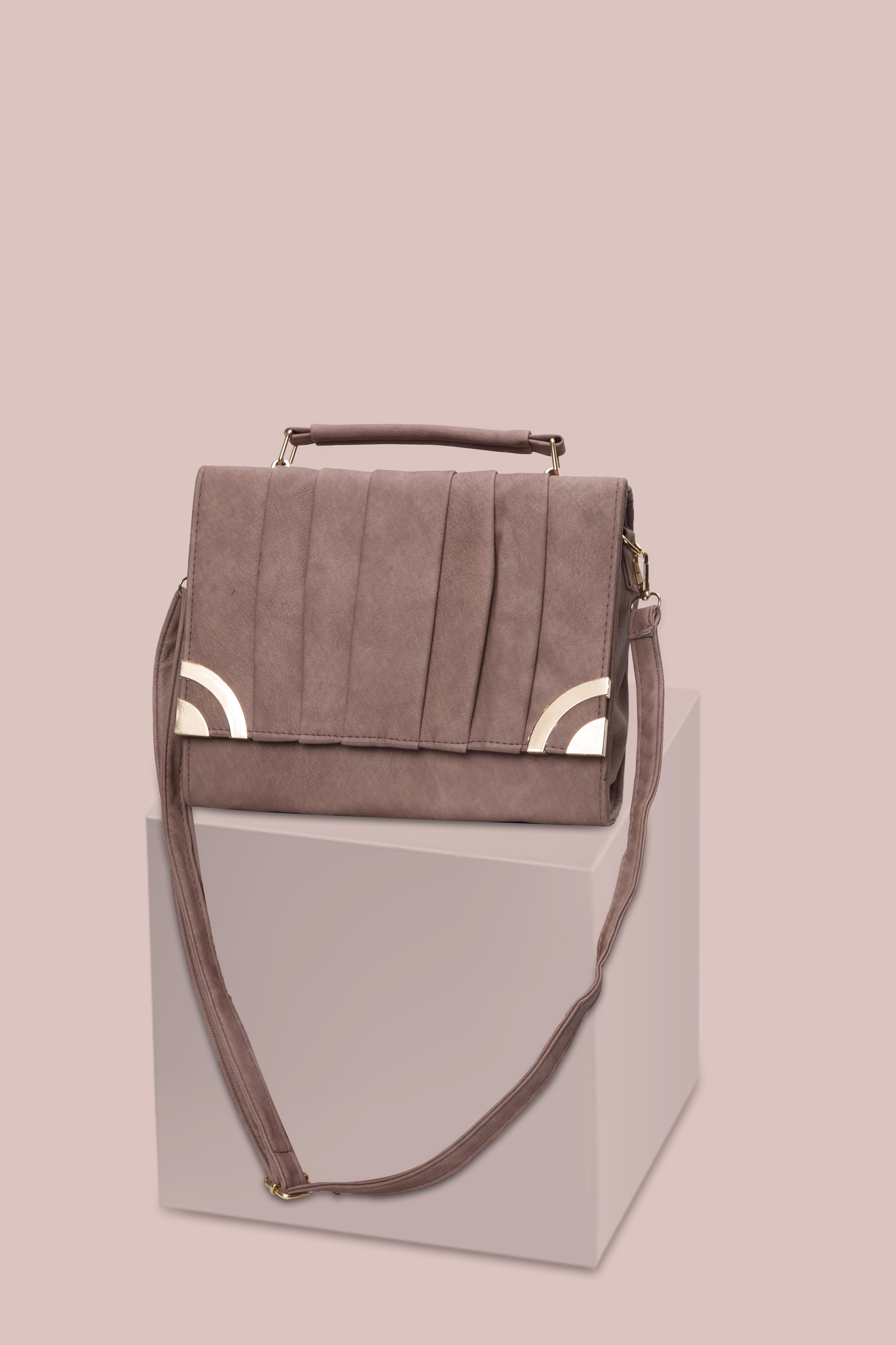 Folle Pink Textured Smart Party Bag