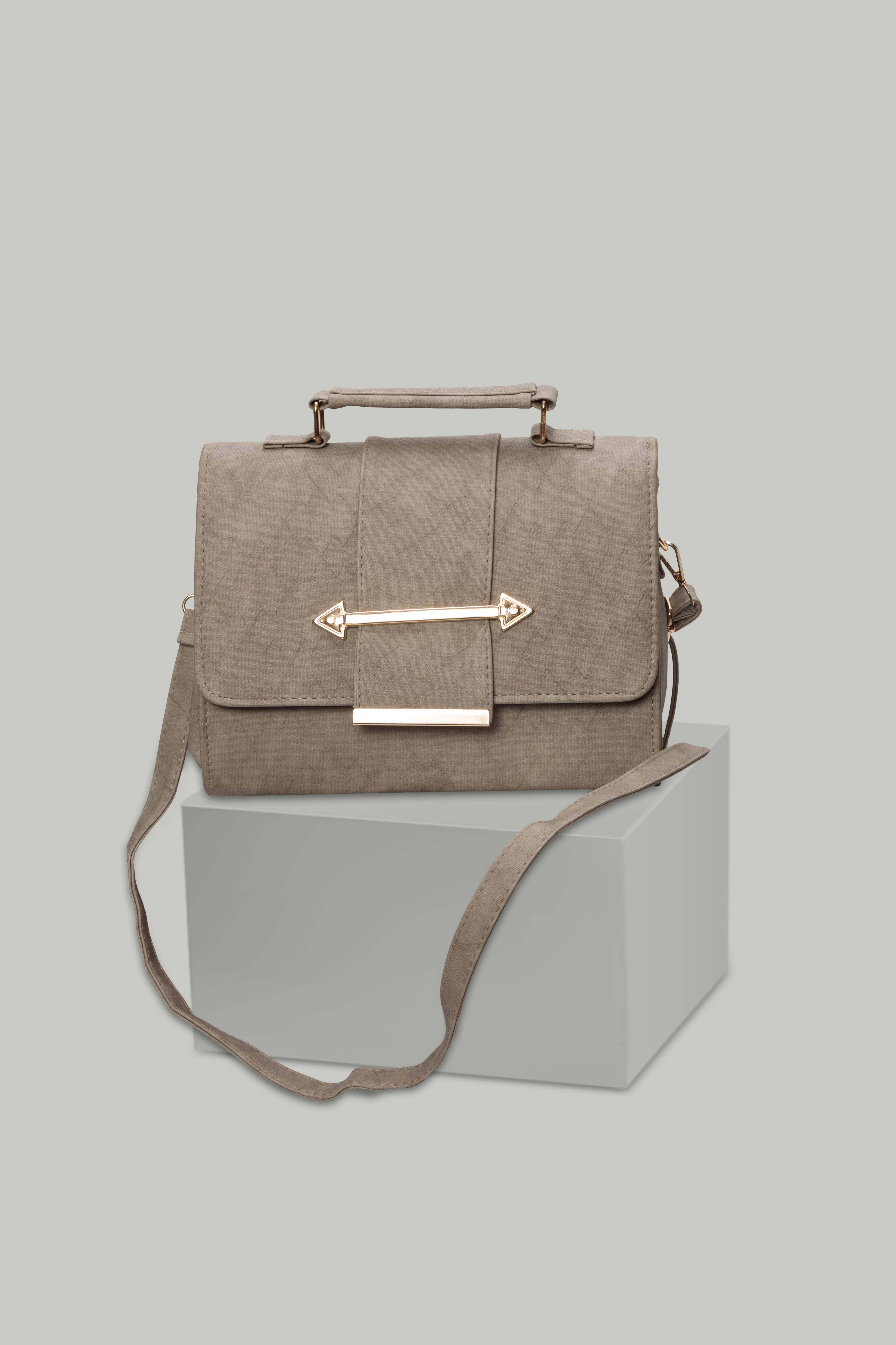 Folle Grey Textured Smart Party Bag