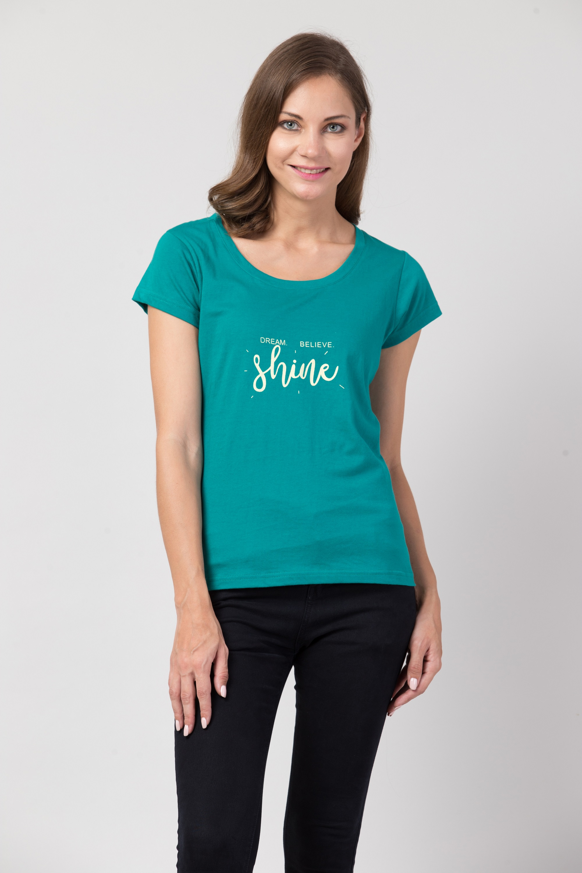 Folle Green Tshirt With Motivational Quote